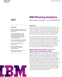 IBM Planning Analytics Data Sheet Cover