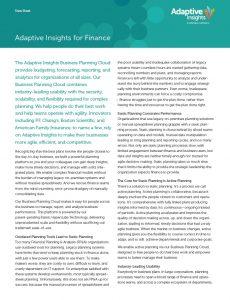 Adaptive Insights Datasheet