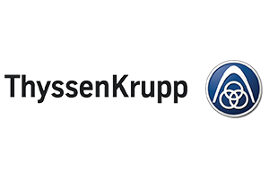 ThyssenKrupp Logo. Manufacturing Sector. Clients of Influential Software.